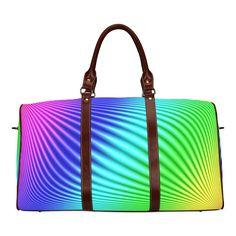Rainbow Waterproof Travel Bag/Small (Model 1639)