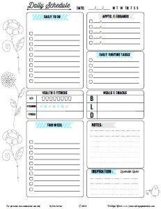editable daily planner printable chevron printable pdf printable