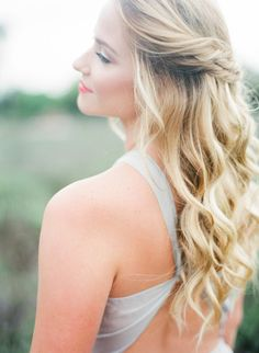 Lovely Double Twist, Half Up Half Down Wedding Hair ~ we ❤ this! moncheribridals.com