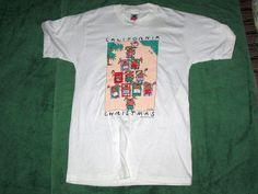 California Christmas vintage 1989 t shirt reindeer soft white medium #FruitoftheLoom #GraphicTee