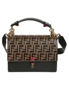 90018775e98c Fendi Fendi Embossed Double F Logo Shoulder Bag - MULTICOLOR - 10861456