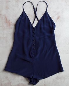 Zinke Brooks Romper in Navy