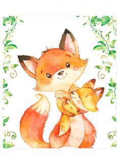Fuchs Illustration, Children's Book Illustration, Watercolor Illustration, Watercolor Paintings, Baby Animal Drawings, Color Me Mine, Fox Art, Watercolor Animals, Anime Art Girl