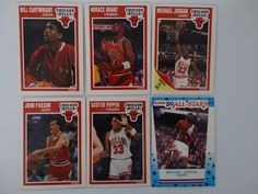 1989-90 Fleer Chicago Bulls Team Set Of 6 Basketball Cards #ChicagoBulls