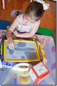 Sight Word Find and Rub Out with magna doodle