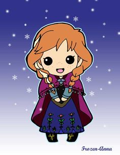 How to Draw Chibi Anna from Frozen, Step by Step, Chibis ...