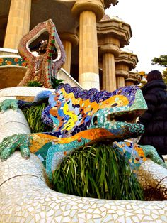 Parc Güell designed by Antoni Gaudí Barcelona, Spain