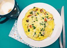 Mijn geheim voor een perfecte omelet met groentjes, lekker en gezond als ontbijt!