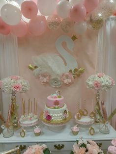 Swan birthday, all decorations made by me ~Natalis~