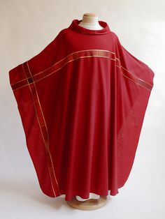 red vestment with cross for pentecost and confirmations