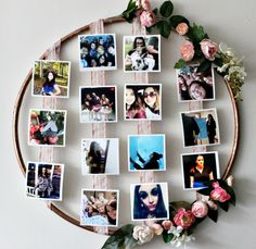 How To Make A DIY Floral Photo Hoop Our Crafty Mom. Let me show you an inexpensive and easy way of How To Make A DIY Floral Photo Hoop. This is perfect for parties of any kind, from first birthdays, to Weddings or, in this case, Graduations! Diy Gifts For Mom, Diy Crafts For Gifts, Photo Frame Crafts, Photo Frames Diy, Photo Frame Ideas, Photo Frame Decoration, Photo Wall Hanging, Hanging Photos, Diy Photo