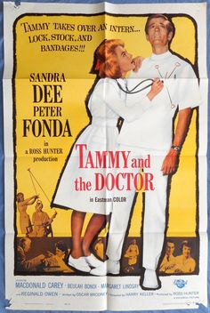 TAMMY AND THE DOCTOR MOVIE POSTER Sandra Dee Peter Fonda Comedy 1sht 1963