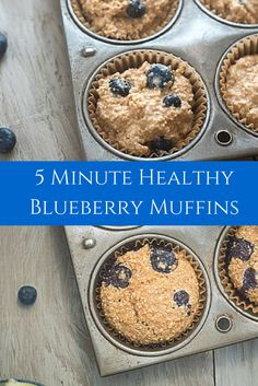 These are the BEST healthy blueberry muffins out there! Kid & mom approved and with no refined sugars or flours they are the perfect on the go breakfast!