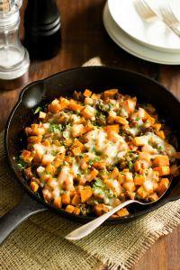 Ground Turkey Sweet Potato Skillet - a delicious gluten free skillet dish