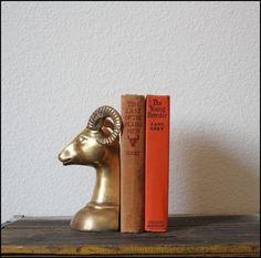 Brass Ram Bookend