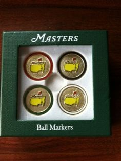 Masters GOLF Ball Marker from Augusta National - BRAND NEW SET OF 4