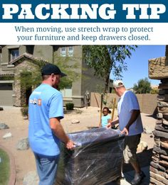 Make moving furniture easier by wrapping it with this stretch wrap | Packing Tips