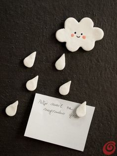 Clouds and drops magnets - cute!