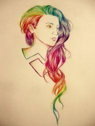 Colorful Hair by naldojunio
