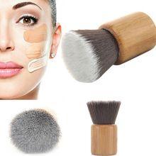 Morbido Spazzole di Trucco Cosmetico Professionale di Trucco di Legno di Spazzola Flat Top Liquid Powder Foundation Brush Regalo Makeup Tools #87344(China (Mainland))