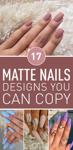 When we look at nail art, we usually see glossy nail deigns, but it's time for a change. Matte nail designs can be a great alternative to regular glossy nails. If you're looking for a classic manicure style that goes with all occasions, you can't go wrong with matte nails. In fact, they sometimes look more elegant and more attractive than glossy nails. However, if matte nails are too plain for your taste you can always combine them with glossy nail polish to create a unique style. Have a…