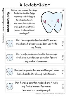 sondag170115f Danish Language, Teaching Math, Maths, Teaching Ideas, Brain Teasers, Mathematics, Back To School, Children, Kids