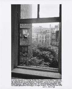 """Allen Ginsberg, """"I sat for decades at morning breakfast tea looking out my kitchen window, one day recognized my own world the familiar background, a giant wet brick-walled undersea Atlantis garden, waving ailanthus (""""stinkweed"""") """"Trees of Heaven,"""" with chimney pots along Avenue A topped by Stuyvesant Town apartments' upper floors two blocks distant on 14th Street, I focus'd on the raindrops along the clothesline. """"Things are symbols of themselves,"""" said Chögyam Trungpa Rinpoche. New York…"""