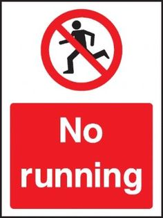 No running general safety sign