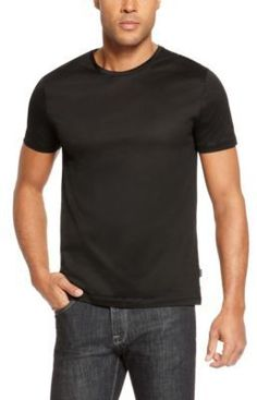 $85, Hugo Boss Lecco Slim Fit Mercerized Cotton T Shirt L Black. Sold by Hugo Boss. Click for more info: https://lookastic.com/men/shop_items/147968/redirect