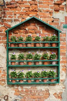 Garden wall by Tim Dawson, via Flickr-it's just too cute (and functional to boot!)
