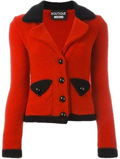 Boutique Moschino cropped knitted blazer