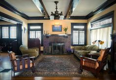 1000 images about mission style living rooms on pinterest for 1930s bungalow interior design