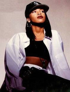 This is very different from the others but I love the 90's hip hop look, Aaliyah is one of my favorites