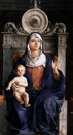 BELLINI, Giovanni Italian painter, Venetian school (b. ca. 1426, Venezia, d. 1516, Venezia)  San Giobbe Altarpiece (detail) c. 1487 Oil on panel Gallerie dell'Accademia, Venice