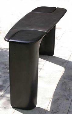 Eric Schmitt - patchwork black Trendy Furniture, Modular Furniture, Urban Furniture, Contemporary Furniture, Furniture Design, Sideboard Furniture, Table Furniture, Narrow Table, Concrete Table