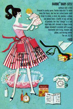 Vintage Barbie Baby Sitter Pamphlet Illustration