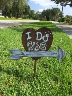 I do BBQ Wooden Yard Sign by MoonandGray on Etsy