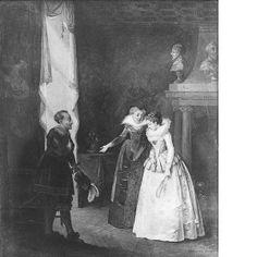 18th Century depiction of Gustav II Adolf proposing to Maria Eleonora   (Nicolas Lafrensen)