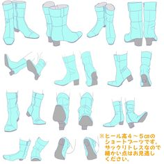 「【ポーズ/足】ブーツ」/「みずのえ」のイラスト [pixiv] もっと見る