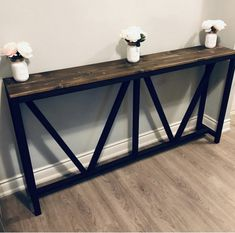 Stylish 48 Unusual Diy Console Table Design Ideas To Try This Year Diy Entryway Table, Diy Table, Entryway Console, Foyer, Skinny Tables, Skinny Console Table, Console Tables, Diy Projects Plans, Diy Furniture Plans