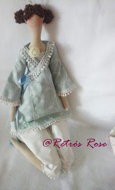 Mundo Encantado (Tilda e Eu): Bedtime Angel em azul e branco