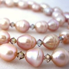 Pale pink pearls.