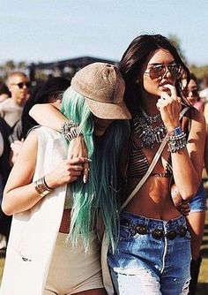 Kylie and Kendall Jenner Showed Their Sisterly Love at Coachella.