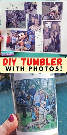 Make a waterproof photo tumbler with sublimation paper and a Cricut mug press. Easy and sentimental gift idea for Mom, Dad, Grandma, Grandpa, anyone! Craft Tutorials, Diy Projects, Mug Press, Sublimation Paper, Diy Tumblers, Leap Of Faith, Sentimental Gifts, Diy Gifts, Easy Crafts
