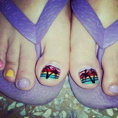 Playa en uñas