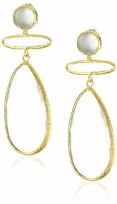 "Coralia Leets Jewelry Design ""Mykonos"" Jumbo Tbar Clear Quartz Earrings Coralia Leets Jewelry Design. $124.99. Save 80% Off!"