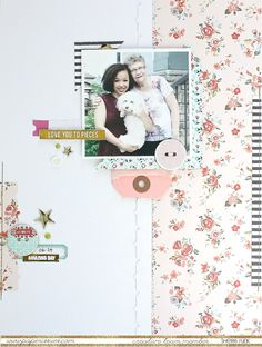 Love You To Pieces - Scrapbook.com - Punch a border from white cardstock and layer over more white cardstock for a fun tone on tone.