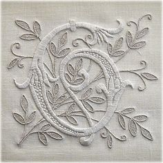♒ Enchanting Embroidery ♒  monogrammed linen