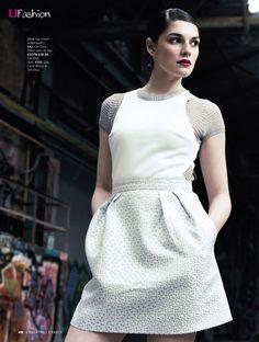 U Magazine Silver top (worn underneath)- Om Diva Dress worn as top- Topshop Skirt- Zoë Carol @ Aterlier 27 Topshop Skirts, Silver Tops, Women Lifestyle, Iconic Women, Ireland, Diva, White Dress, Womens Fashion