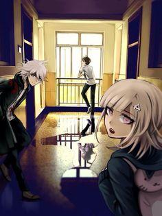 Komaeda!! Hajime!! And Chiaki ~ lol I really like Chiaki but I love Komaeda and Hajime more!